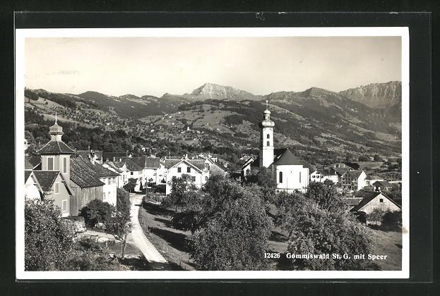 AK Gommiswald / St. G., Teilansicht mit Speer