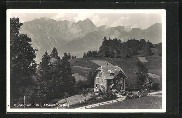 AK St. Margrethen-Berg, Gasthaus Tristeli