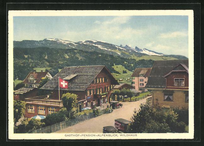 AK Wildhaus, Gasthof und Pension Alpenblick