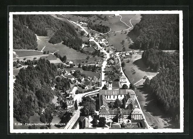 AK Fischingen, Fliegeraufnahme mit Kloster