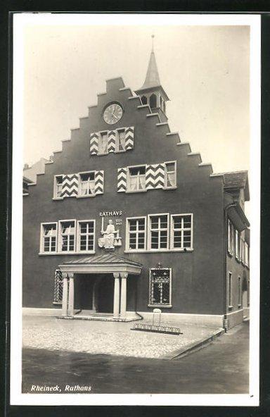 AK Rheineck, Ansicht vom Rathaus