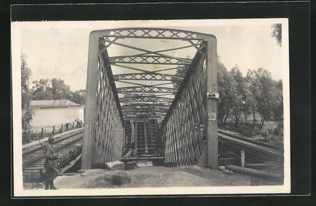 AK Kowel, Eine von den Russen gesprengte Brücke