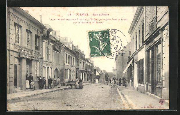 AK Fismes, Rue d'Ardre