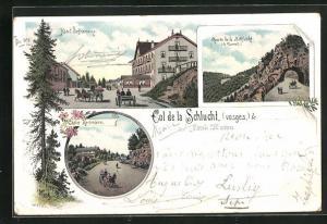 Lithographie Col de la Schlucht, Hotel Befranoux, Route de la Schlucht