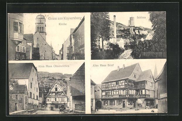 AK Kaysersberg, Kirche, Schloss, Altes Haus Ohnenstetten 0