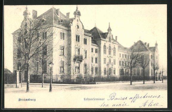 AK Strassburg, Blick zum Lehrerseminar