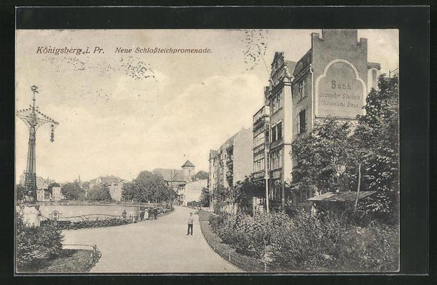 AK Königsberg, Neue Schlossteichpromenade