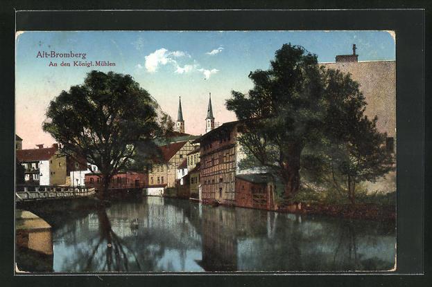 AK Bromberg / Bydgoszcz, Partie an den kgl. Mühlen