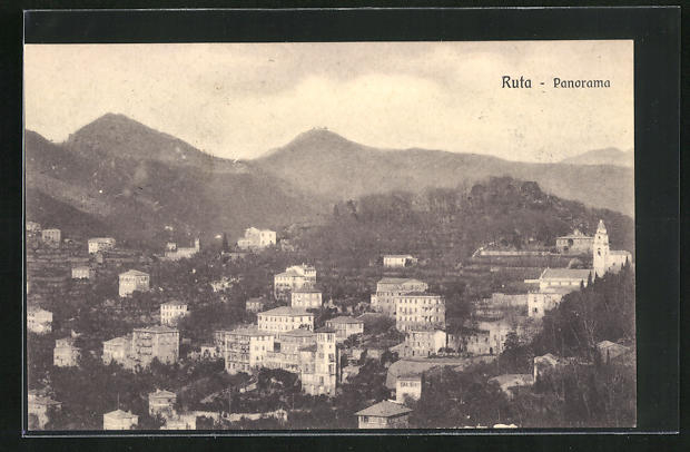 AK Ruta, Panorama mit Gebirge