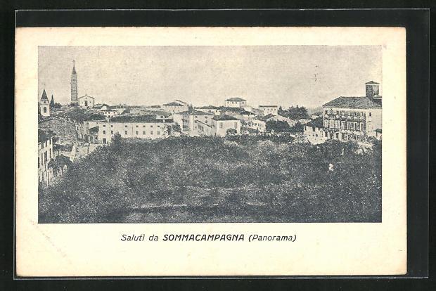 AK Sommacampagna, Panoramablick aus der Vogelschau