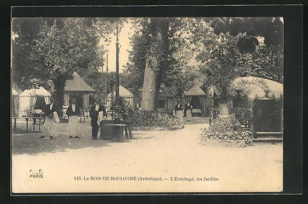 AK Paris, Le Bois-de-Boulogne, l'Ermitage, les Jardins