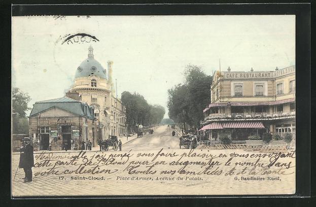 AK Saint-Cloud, Place d'Armes, Avenue du Palais