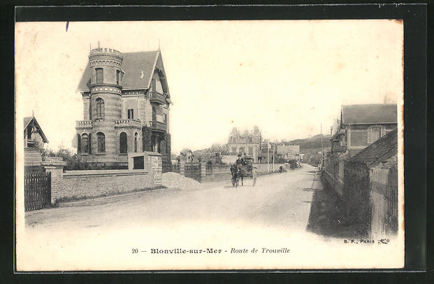 AK Blonville-sur-Mer, Route de Trouville