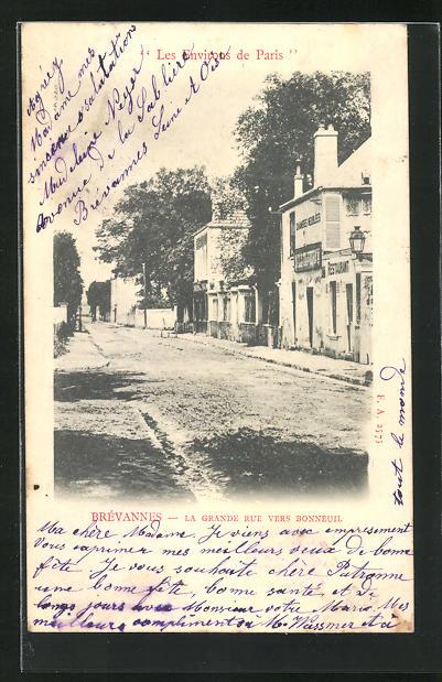 AK Brévannes, La Grande Rue vers Bonneuil