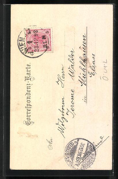 Lithographie Wien, Freyung und Schottenkirche 1