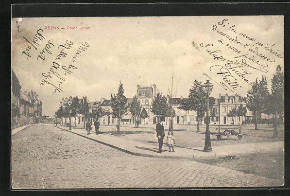 AK Reims, Vue sur la Place Luton