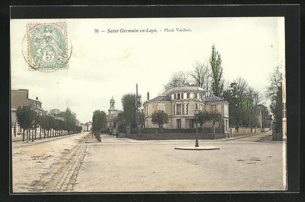 AK Saint-Germain-en-Laye, Vue sur la Place Vauban