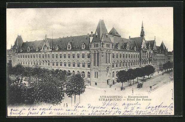 AK Strassburg, Hauptpostamt