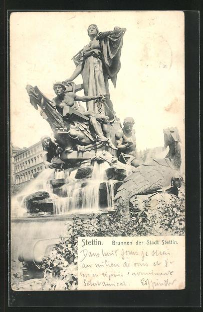AK Stettin, Brunnen der Stadt