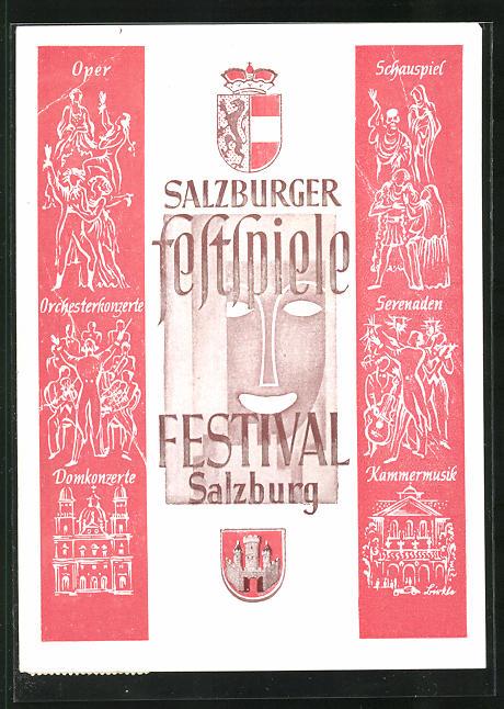 AK Salzburg, Salzburger Festspiele 1947, Oper, Schauspiel, Domkonzerte