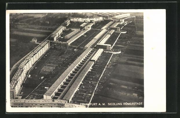AK Frankfurt-Heddernheim, Siedlung Römerstadt, Bauhaus, Architektur