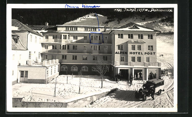 AK Ischgl, Alpenhotel Post im Winter 0