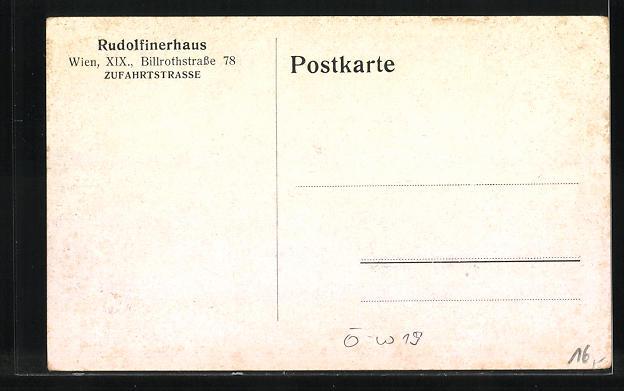 AK Wien, Rudolfinerhaus, Billrothstr. 78, Zufartstrasse 1