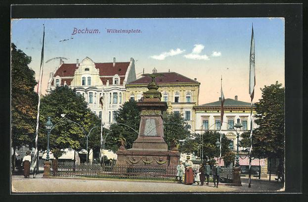 AK Bochum, Partie am Wilhelmsplatz 0