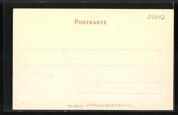 AK Burgstädt / Sa., Strassenpartie am Amtsgericht & Kriegerdenkmal 1
