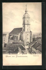 AK Fürstenwalde, Blick zur Domkirche