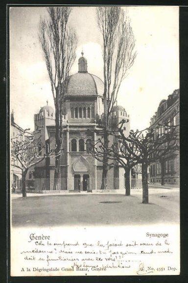AK Genève, Partie an der Synagoge