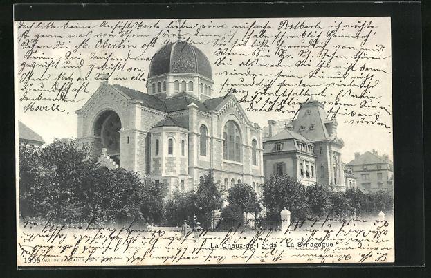 AK La Chaux-de-Fonds, La Synagogue