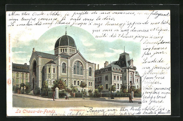 Lithographie La Chaux-de-Fonds, La Synagogue