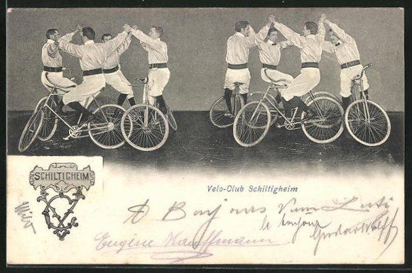 AK Schiltigheim, Fahrradfahrer des Velo-Clubs Schiltigheim bei einer Übung