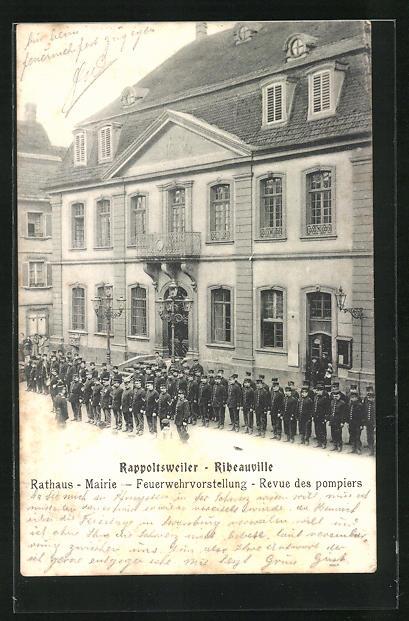 AK Rappoltsweiler, Feuerwehrvorstellung am Rathaus