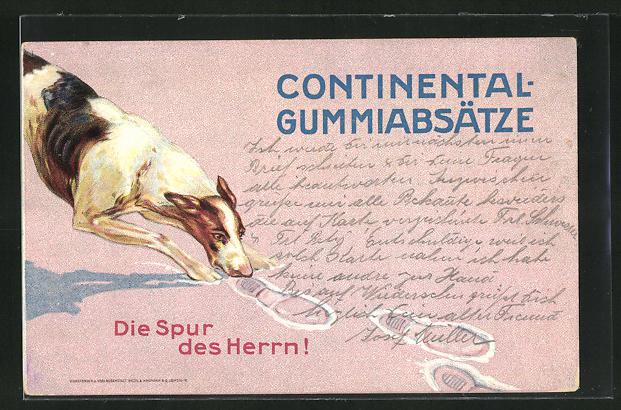 AK Continental-Gummiabsätze, Die Spur des Herrn, Hund