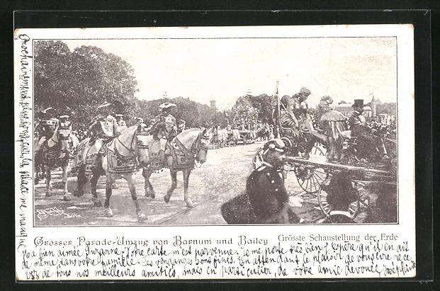 AK Zirkus Barnum und Bailey, Grosser Parade-Umzug