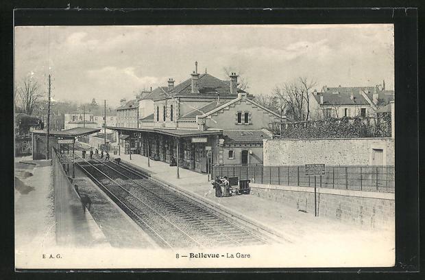 AK Meudon, Blick zum Bahnhof