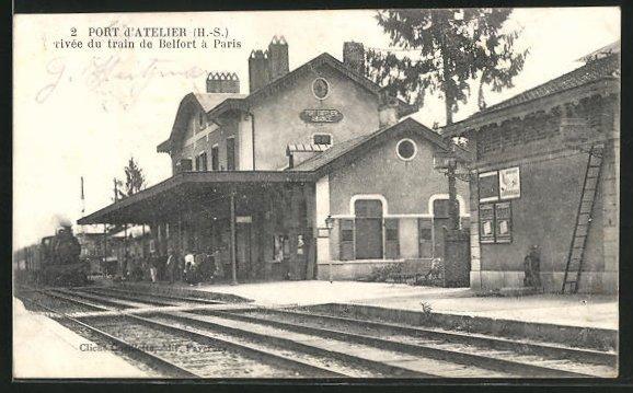 AK Port d`Atelier, Partie am Bahnhof