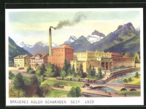 AK Schwanden, Brauerei Adler, Werksanlagen