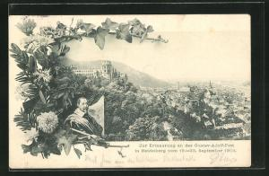 AK Heidelberg, Ortsansicht, Portrait Gustav Adolf von Schweden, Gustav Adolf Fest 1904