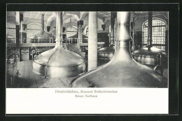 AK Rheinfelden, Brauerei Feldschlösschen, Innenansicht