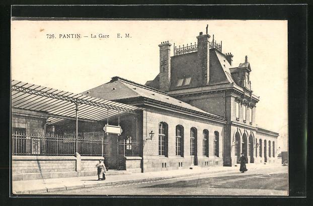 AK Patin, La Gare, Bahnhof