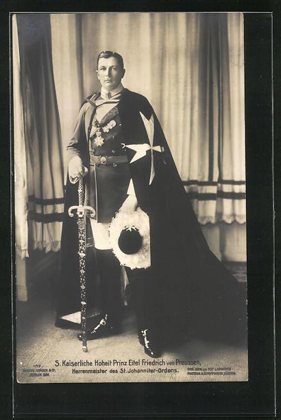 AK Prinz Eitel Friedrich von Preussen, Herrenmeister des St. Johanniter-Ordens