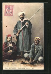 AK Un Group de Maures, marokkanische Krieger