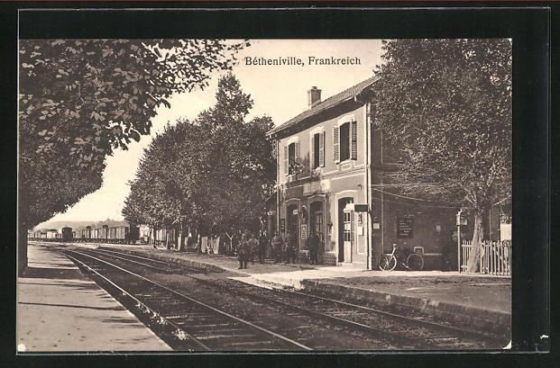 AK Bétheniville, Partie am Bahnhof