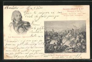 AK Französische Revolution, Bataille de Fleurus, Le Marchechal Jourdan