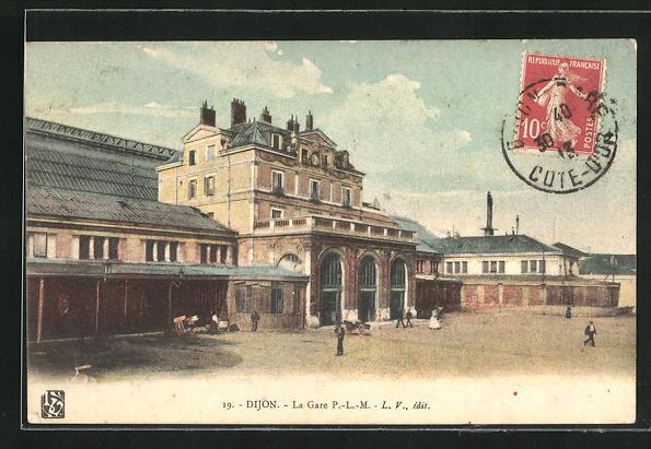 AK Dijon, La Gare, Bahnhof