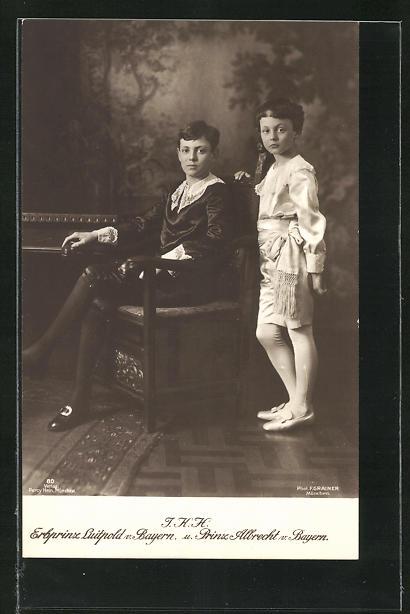 AK Prinz Albrecht und Erbprinz Luitpold von Bayern