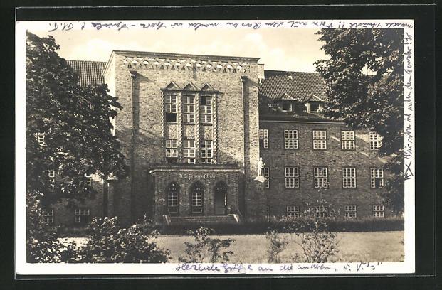 AK Stettin, NS Frauenschule für Volkspflege, Turnerstrasse 61